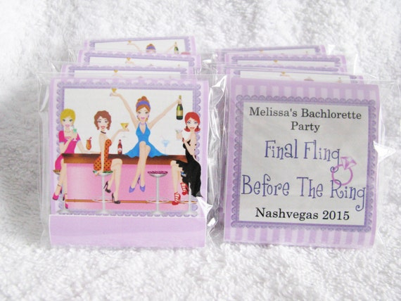 Bachelorette Party - Bachelorette Favors - mini nail file sets