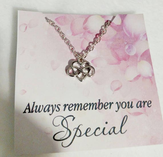 Infinity heart- infinity necklace- heart necklace-you are special-love necklace-gift for mom-gift for daughter- gifr for her- granddaughter