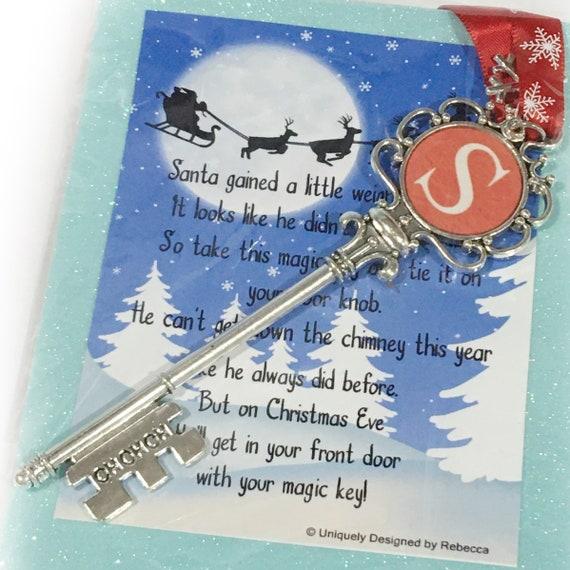 Santa Magic Key, Christmas Decor, No Chimney, Christmas, Gift for Kids