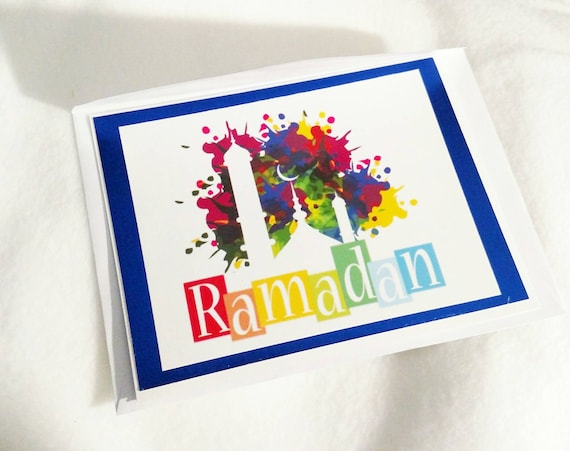 Eid Mubarak card- Ramadan card -- Custom Ramadan card for your friends and family!