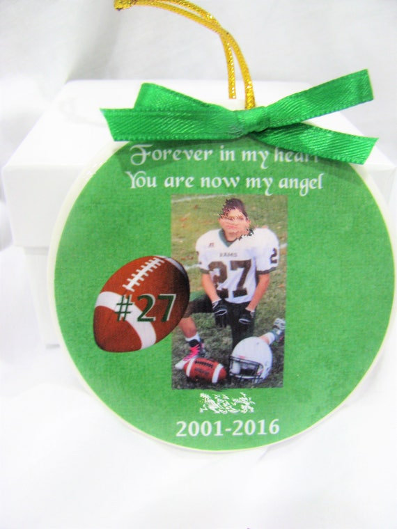 Memorial ornament- Forever In my heart- You are my angel- Christmas ornament- Memorial gift - Sympathy gift