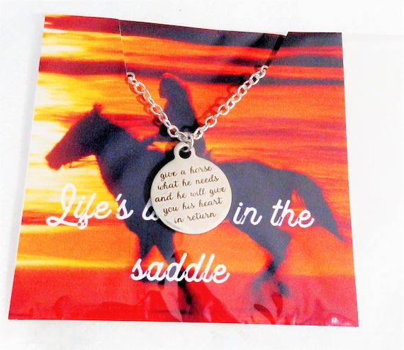 Horse lover Gift Equestrian Gift Gift for her Horse necklace