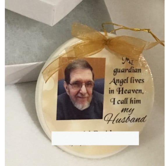 Memorial Ornament, In Memory of, Personalized, Christmas Gift for Mom