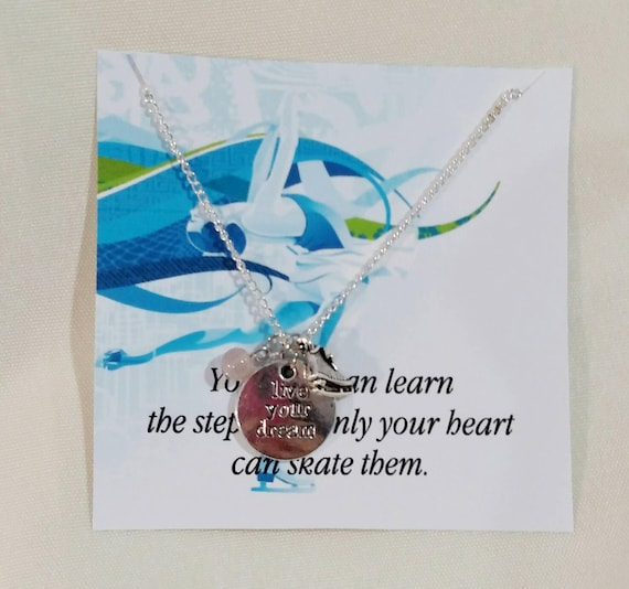 Figure Skating Necklace - Ice Skating Necklace - Figure Skating Gift - Figure Skater Gift - Ice Skater Gift