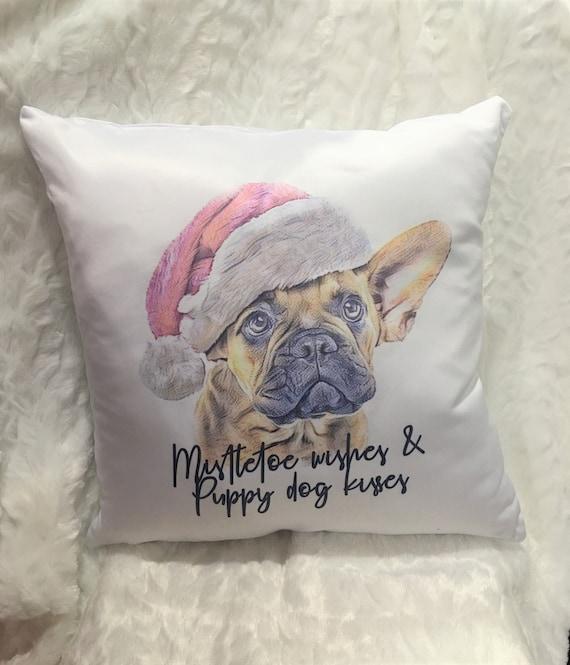 Christmas Dog Pillow Cover, Christmas, Holiday Gift for Wife