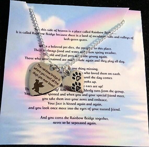 Rainbow Bridge Jewelry Pet Memorial Jewelry Dog Memorial Pet Memorial