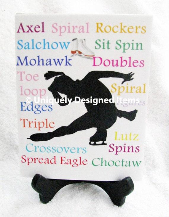 Figure Skating - Figure Skate - Ice Skate Gift - Figure Skate Custom tile- can be personalized