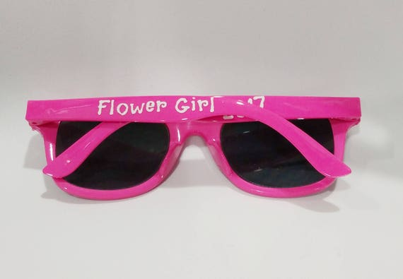 Flower Girl Sunglasses Gift also available for your Ring Bearer!