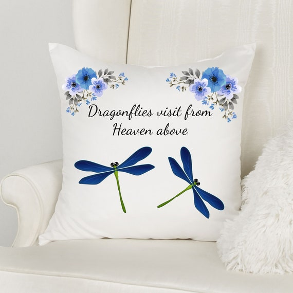 Dragonfly Memorial Gift, Memorial Pillow, Loss of Mother, Sympathy Gift
