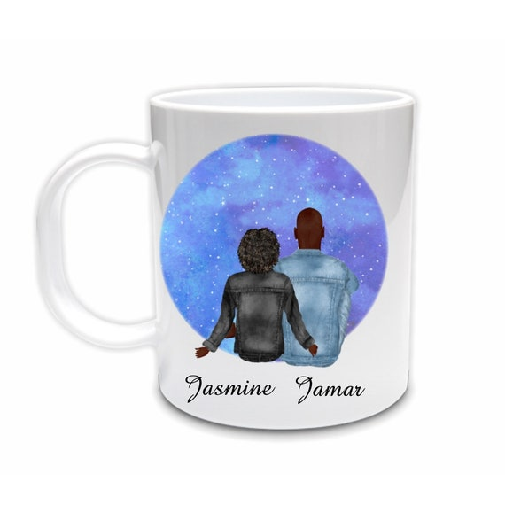 Mugs Personalized, Custom Mug, African American, Birthday Gift for Girlfriend