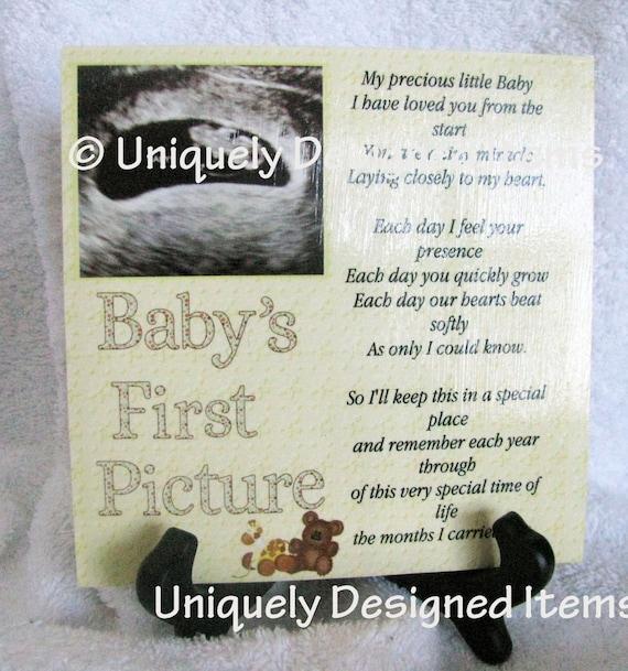 Ultrasound frame/tile - Sonogram Gift - Love at first sight - Gift for baby- Nursery - Nursery Decor- Shower gift - Ultrasound keepsake tile