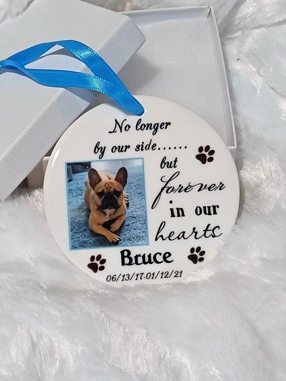 Dog Memorial Ornament, Pet Memorial, Christmas, Gift for Sister