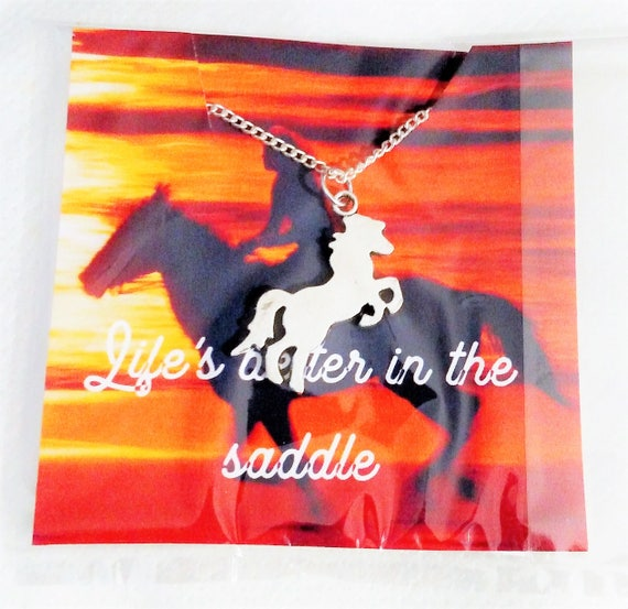 Jewelry - Gift for Women - Horse lover Gift - Equestrian Gift - Christmas Gift - Gift for her - Horse necklace - horse jewelry -silver horse