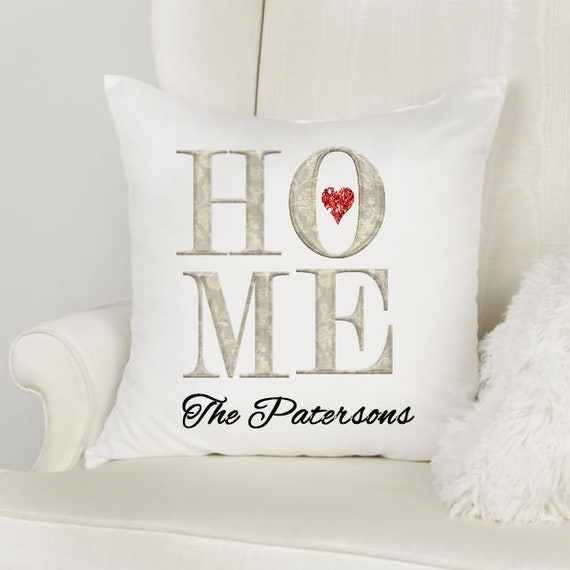 Housewarming Gift First Home, Throw Pillow, Closing Gift, Gift for Family