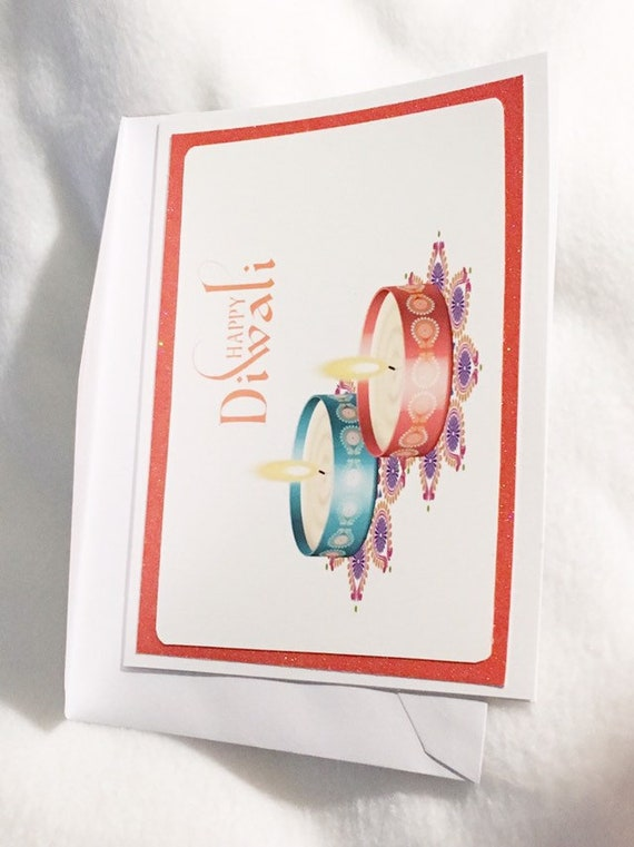 Indian Holiday Greeting Card - Diwali greeting card- Festival of the Lights Dwali Greeting card