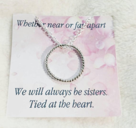 Tied together- sister necklace-best friend necklace- infinity- bridesmaid necklace-necklaces-sister jewelry-sisters at heart-tied at the