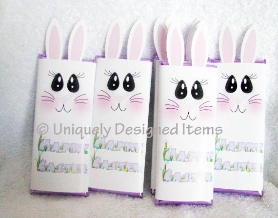 Easter Party Favors - Easter Bunny Bars Personalized