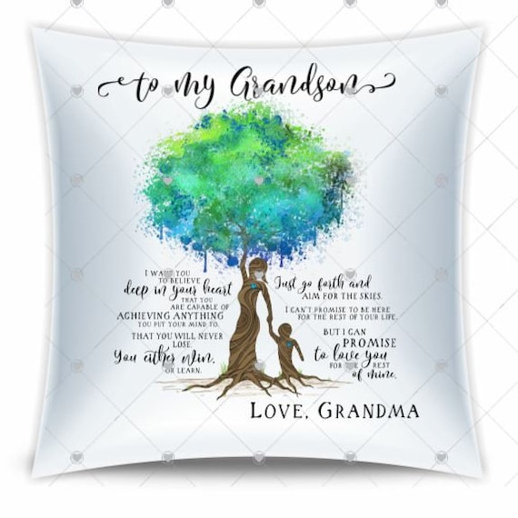 Grandson Gifts, Throw Pillow, Christmas, Gift from Grandma