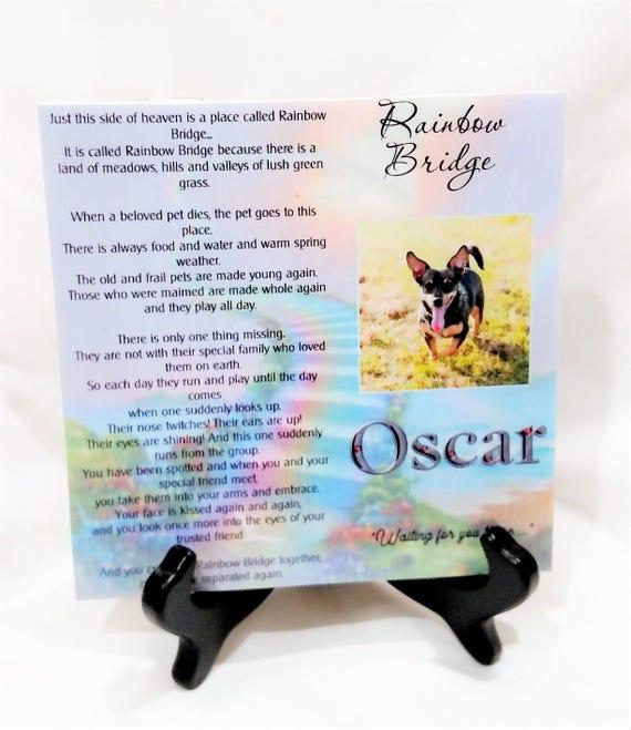 Pet Memorial Plaque, Dog Memorial, Cat Memorial, Pet Loss, Gift for Her, Gift for him, Gift for Dog Lover