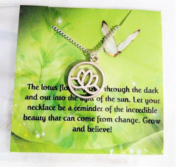 lotus jewelry yoga jewelry encouragement gift