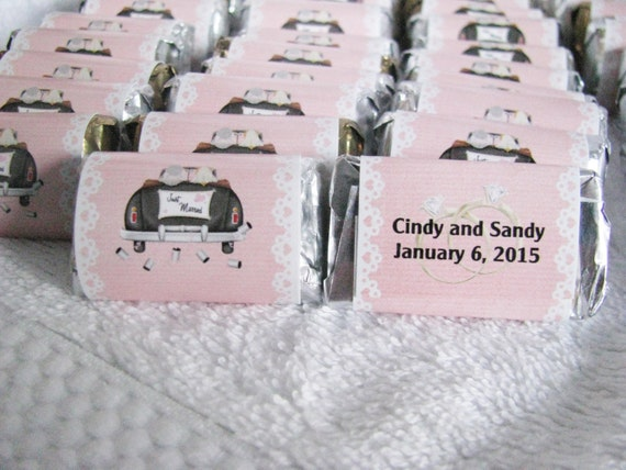 Gay wedding favors custom Hershey minis for your special day