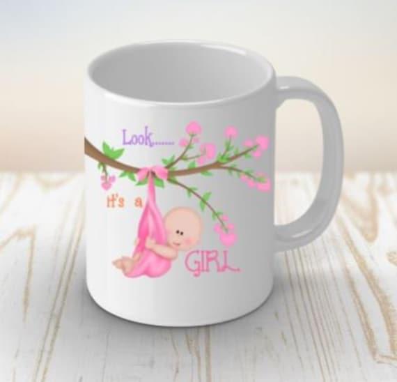 Baby Girl Gift, Coffee Mug, New Baby, New Mom Gift