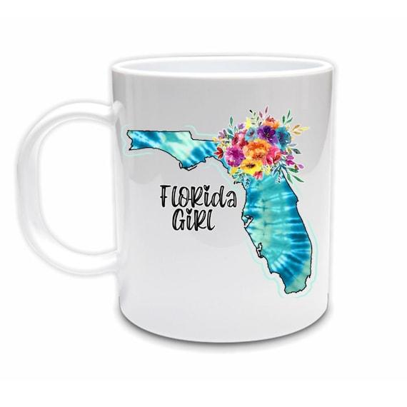 Florida, Tie Dye, Coffee Mug, Birthday, Gift for Best Friend
