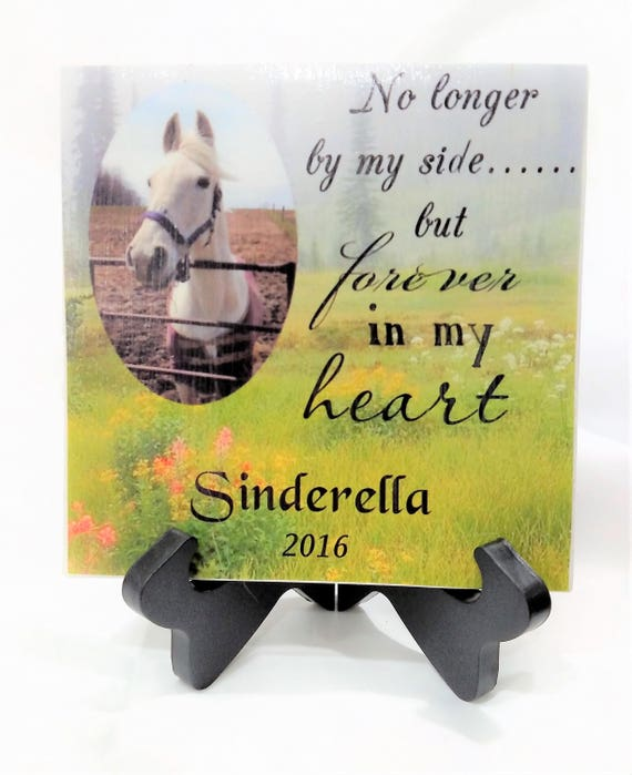 Horse memorial pet memorial  loss of horse personalized