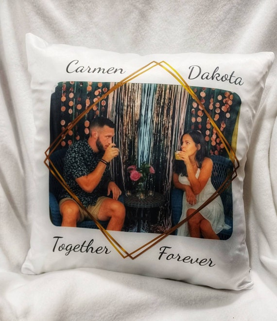 Picture Pillow, Personalized Pillow, Anniversary, Couple Gift