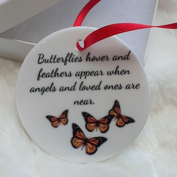 Butterfly Memorial Christmas Ornament, Christmas, Bereavement, Gift for Loss of Father