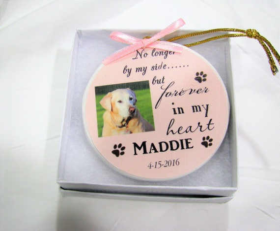 Pet Memorial Ornament, Christmas Memorial Ornament, Dog Memorial, Pet Loss, Gift for Women, Gift for Men
