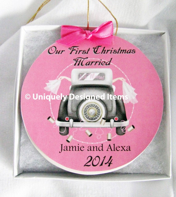 Gay Wedding Ornament - Lesbian Wedding Ornament - Christmas Gift - Gay Ornament - Wedding Ornament -Christmas