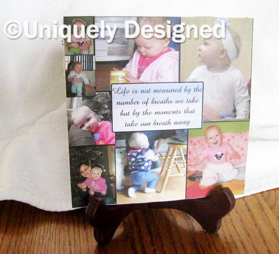 Custom Photo Gift Personalized Plaque Personalized Gift Custom Photo Slate Ceramic Plaque Photo Gifts Father's Day Gift