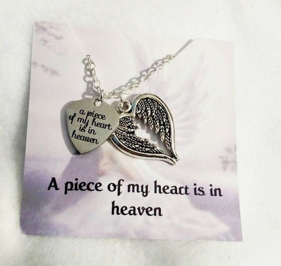 Memorial necklace-memorial jewelry-sympathy gift-remembrance jewelry-remembrance necklace-memorial gift-loss of loved one-a piece of my