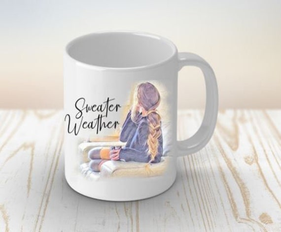Sweater Weather Fall Mug Autumn Mug Coffee Lovers Mug Modern Mug Gifts for her