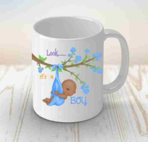 Baby Shower Gift Coffee Mug New Mom Gift It's A Boy New Mom
