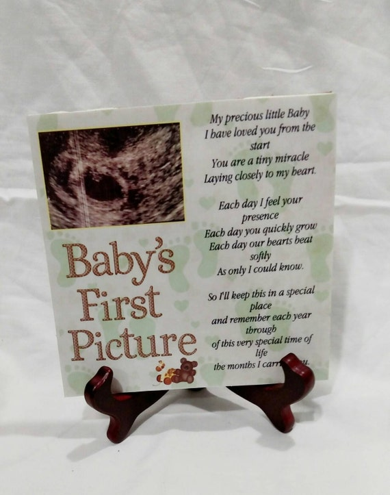Best Unique Baby Keepsake Gift- Ultrasound plaque