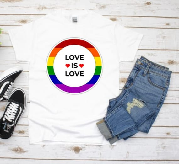 Love Is Love Graphic Tee, Gay Pride, Girlfriend Gift