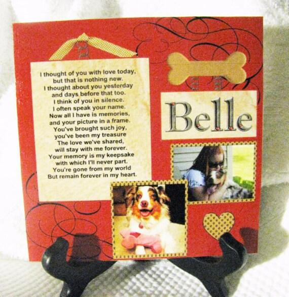 Personalized Pet Memorial Pet Loss Gift Pet memorial plaque