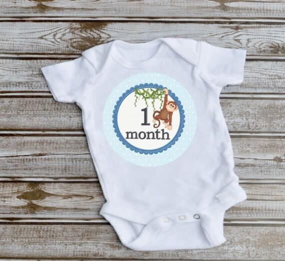 Milestone, Monthly Baby Bodysuits, Baby Shower Gift, New Mom Gift