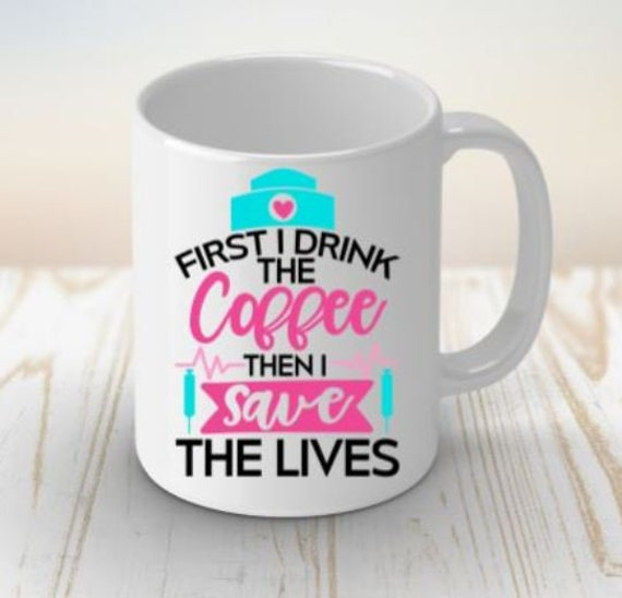Nurse Gift, Nurse Life Coffee Mug, Birthday Gift, Gift for Coworker, Gift for Wife