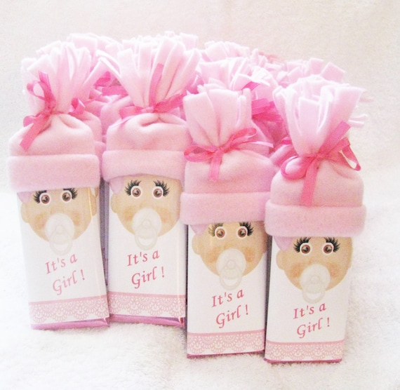 Personalized chocolate Baby Shower Favors It's A Girl!