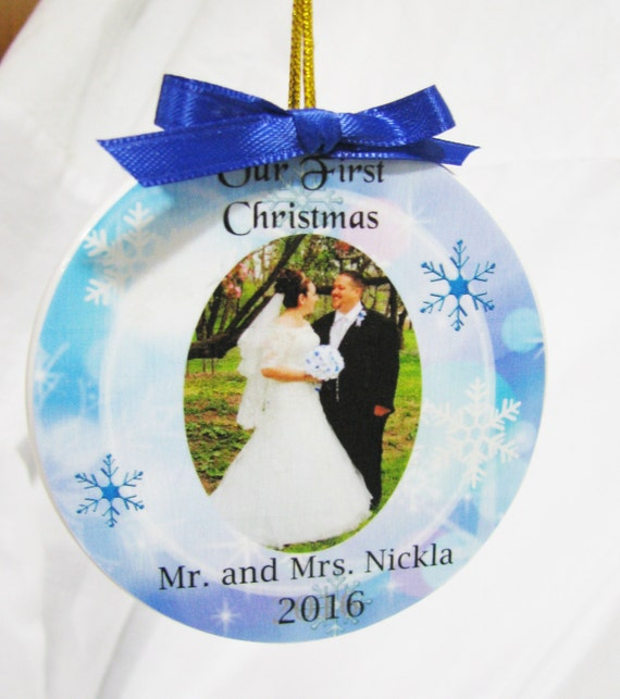 Personalized Wedding Ornament Mr and Mrs.