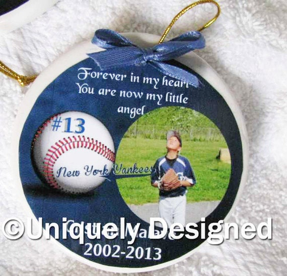 Personalized Christmas ornaments photo Christmas ornament Memorial ornament keepsake ornament remembrance ornament