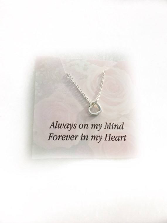 A Piece of My Heart Lives In Heaven Memorial Necklace