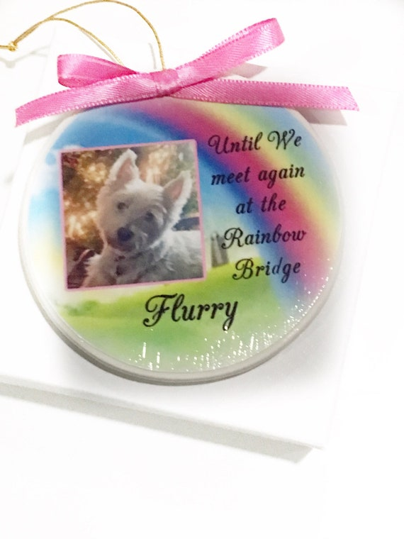 Pet memorial Christmas ornament--order up until Dec. 18th to receive by Christmas