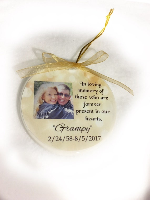 Memorial ornament Christmas ornament Memorial Gift Personalized Ornament Christmas Sympathy Gift Remembrance ornament