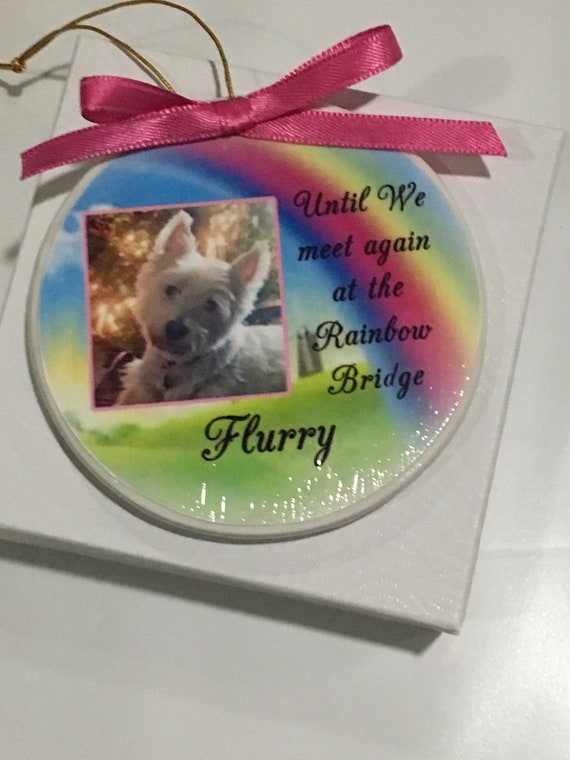 Pet Memorial Ornament, Personalized, Christmas Gift for her