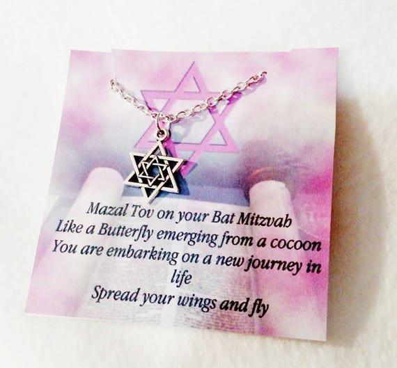 Bat Mitszvah gift- Bat Mitzvah- Jewish jewelry-Jewish- Star of David-Judaica- Bat mitzvah jewelry- Bat mitzvah gifts-Hannukah gift- Jewish