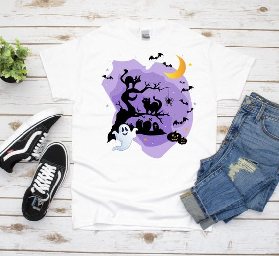 Halloween Shirt, Ghost T-Shirt, Autumn, Gift for Friend